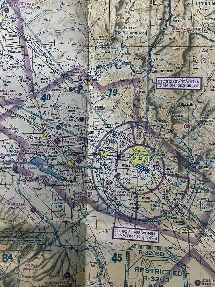 Airspace chart class C airspace