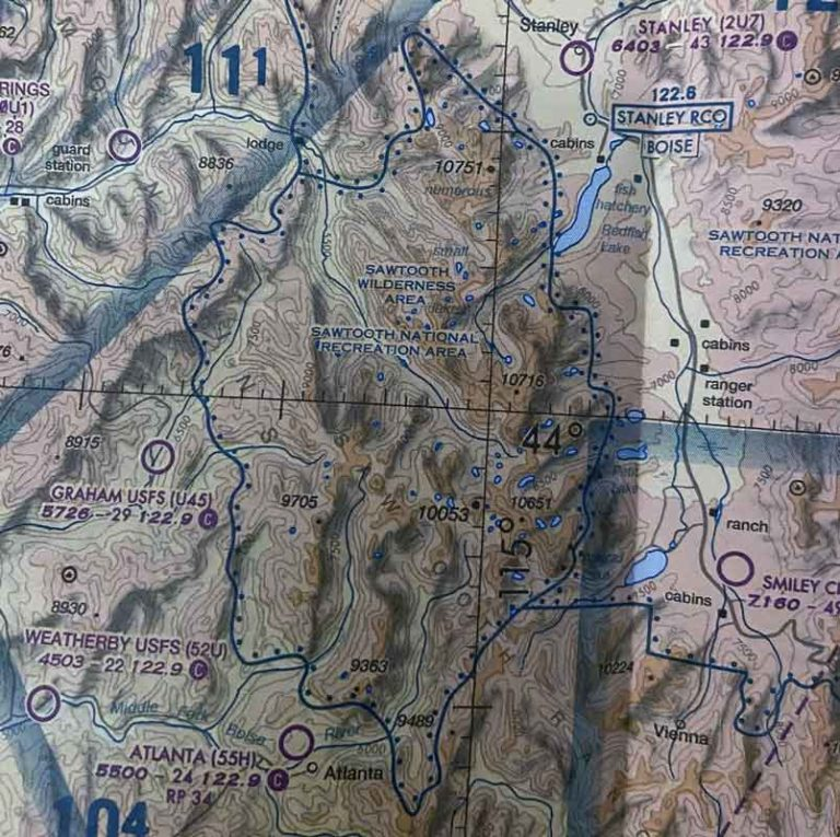 Airspace chart wilderness area