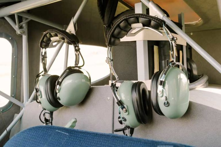 Two headsets for pilots
