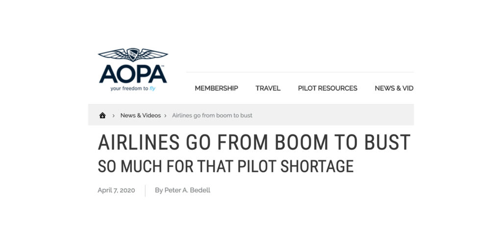 Fear mongering in aviation with Covid-19
