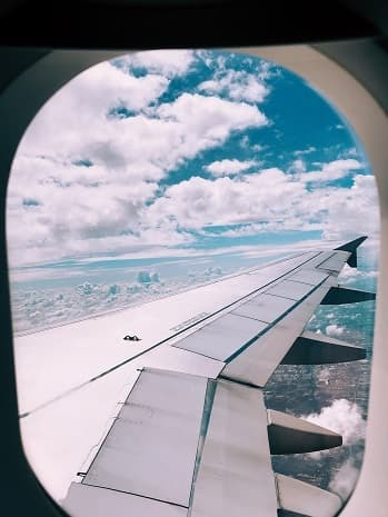 View out an airline window