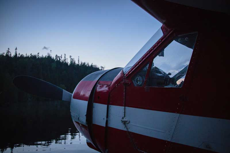 Private pilot plane on the water